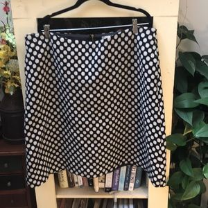 Boden wool polka dot skirt